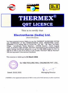 Thermax QST Licence1